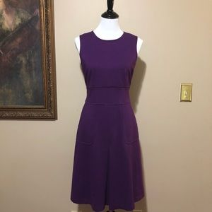 EUC Banana Republic deep purple sheath dress